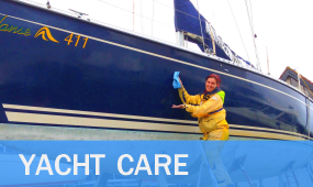 yacht care polishing valeting repairs scratch grp washing cleaning waxing